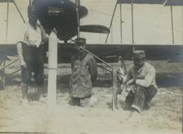 France Front De La Somme Aviation Obus Bombes Ancienne Photo 1918 - Guerra, Militari