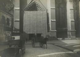 France Front De La Somme Amiens Cathedrale Barricade De Protection Ancienne Photo 1918 - Krieg, Militär