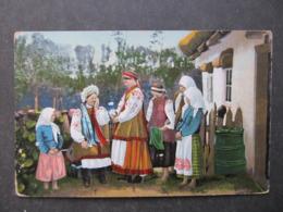 AK UKRAINA Ukraine Polen Tracht Costumi Typen Ca. 1915 /// D*40542 - Ukraine