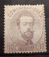 ESPAÑA.  EDIFIL 120 (*).  10 CT VIOLETA AMADEO I.  CATÁLOGO 300 € - 1872-73 Reino: Amadeo I