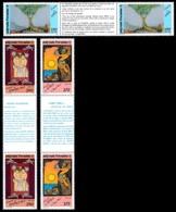 POLYNESIE 1990 - Yv. 368A à 370A = 368 à 370 En Tryptiques **   Cote= 62,00 EUR - Légendes Polynésiennes  ..Réf.POL24590 - Unused Stamps
