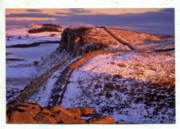 ENGLAND - AK 364711 Hadrian's Wall And Crag Lough At Sunset In Winter - Cumberland/ Westmorland
