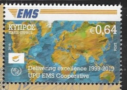CYPRUS, 2019, MNH,  EMS, UPU EMS COOPERATION,  1v - Post