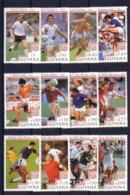 Soccer World Cup 1994 - Football - GUYANA - Set 12v MNH - World Cup