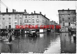 71 - MACON  - INONDATION 1955  - PLACE DE LA PYRAMIDE - Macon