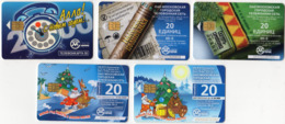 Russia 5 Phonecards  New Year Christmas Nouvel An Noel - Natale