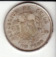 1 Peso1881 Fausse Pièce Aspect Argent Mais Aimantable - Chili