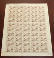 Indochine - 1943 - N°Yv. 262 - Garnier 1c - Feuille Complète De 50 - émis NSG / MNG As Issued - Ungebraucht