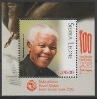 Sierra Leone 2018 Mi. ? S/S Joint Issue PAN African Postal Union Nelson Mandela Madiba 100 Years - Sierra Leone (1961-...)