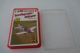 Speelkaarten - Kwartet, Sportflugzeuge + Helicopter FX Schmid - Nr 52922, Vintage, *** - - Speelkaarten