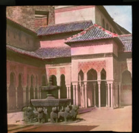 Alhambra Of Granada SPAIN - Tinted Magic Lantern Slide (lanterne Magique) - Glass Slides