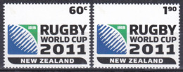 Neuseeland New Zealand 2010 Sport Spiele Rugby Weltcup Worldcup Championship Ballspiele, Mi. 2712-3 ** - Nueva Zelanda