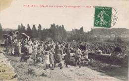 """21 - Beaune - Départ Des Joyeux Vendangeurs - """"Aux Theurons"""" - Beaune"""