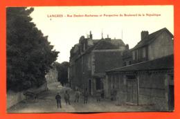 """CPA 52  Langres """" Rue Denfert Rochereau Et Perspective Du Boulevard De La République """" - Langres"""