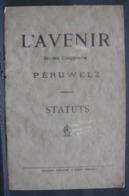 DH. 115. Statut De La Société Coopérative De  Péruwelz En 1922 - Documents Historiques
