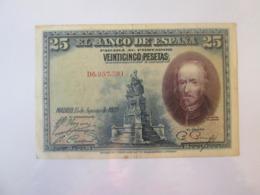 Spain 25 Pesetas 1928 Banknote - [ 1] …-1931 : Premiers Billets (Banco De España)