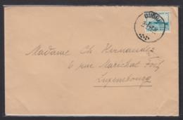 LETTRE D'OUGREE POUR LUXEMBOURG-VILLE. - Briefe U. Dokumente