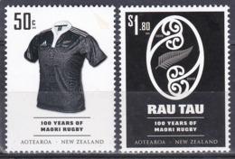 Neuseeland New Zealand 2010 Sport Spiele Rugby Organisationen Rugbyverband Farn Ferns All Blacks, Mi. 2691-2 ** - Nueva Zelanda