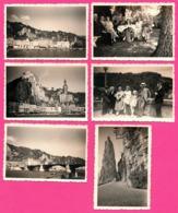 Lot De 6 Photo - Dinant - Citadelle - Meuse - Pont - Famille - Vue Générale - Animée - AGFA LUPEX - 1934 - Lieux