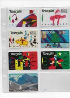 7 Cartes Anciennes De Nouvelle Zélande New-Zealand Noel Christmas 1990 1991 - Neuseeland