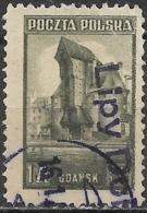 POLAND 1945 Liberation Of Gdansk (Danzig) - 1z. Crane Tower, Gdansk FU - Usados