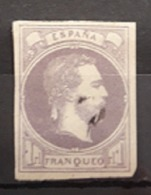 ESPAÑA.  EDIFIL 158 US.  1 REAL VILOLETA CARLOS VII.  CATÁLOGO 250 € - 1873-74 Regentschaft