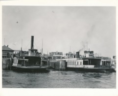 Grande Argentique Steamboat Steamship Bateau à Vapeur New York Sea Mer Marin - Boats