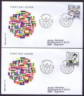 Denmark 2006; Europa - CEPT.  Set Of 2 On FDC (Foghs Cover). - 2006