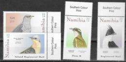 NAMIBIA, 2019, MNH, BIRDS,CUCKOOS, 4v - Cuckoos & Turacos