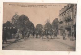 Charleville Manifestation Du 11 Septembre 1911 Contre La Cherté Des Vivres ( Barrages De Dragons Boulevard Des 2 Villes - Charleville