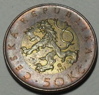 1993 - Tchéquie - Czech Republic - 50 KORUN, (C), KM 50 - Czech Republic