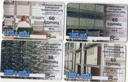 Russia 4 Phonecards  Phones - Telefoni