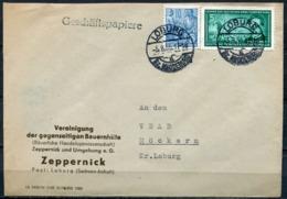 """DDR,GDR 1956 Firmen Brief/ Heimatbeleg Loburg Mit Mi.Nr.472 Und Tstp.""""Loburg,Bz.Magdeburg """"1 Beleg - Covers"""