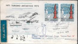 SPECTACULAR ENVELOPPE CIRCULEE ESTACION CIENTIFICA ALMIRANTE BROWN ANTARTIDA ARGENTINA AÑO 1971 A LA U.R.S.S. U.S.S.R. - Unclassified