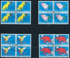 Zumstein 1027-1030 / Michel 1085-1088 Viererblockserie Mit ET-Zentrumstempel - Used Stamps