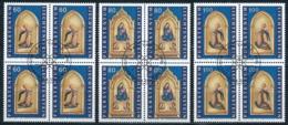 Zumstein 1062-1064 / Michel 1120-1122 Viererblockserie Mit ET-Zentrumstempel - Used Stamps