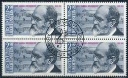 Zumstein 904 / Michel 963 Viererblockserie Mit ET-Zentrumstempel - Used Stamps