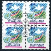 Zumstein 957 / Michel 1015 Viererblockserie Mit ET-Zentrumstempel - Used Stamps