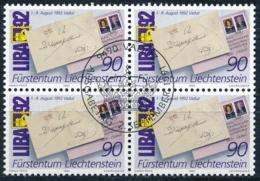 Zumstein 967 / Michel 1026 Viererblockserie Mit ET-Zentrumstempel - Used Stamps