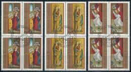 Zumstein 968-970 / Michel 1027-1029 Viererblockserie Mit ET-Zentrumstempel - Used Stamps