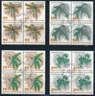 Zumstein 987-990 / Michel 1045-1048 Viererblockserie Mit ET-Zentrumstempel - Used Stamps