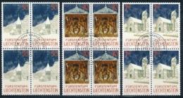Zumstein 992-994 / Michel 1050-1052 Viererblockserie Mit ET-Zentrumstempel - Used Stamps
