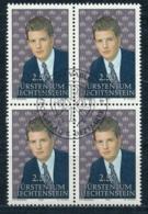 Zumstein 995 / Michel 1053 Viererblockserie Mit ET-Zentrumstempel - Used Stamps