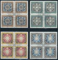 Zumstein 1041-1044 / Michel 1099-1102 Viererblockserie Mit ET-Zentrumstempel - Used Stamps