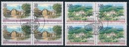 Zumstein 1069-1070 / Michel 1127-1128 Viererblockserie Mit ET-Zentrumstempel - Used Stamps