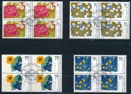 Zumstein 1074-1077 / Michel 1132-1135 Viererblockserie Mit ET-Zentrumstempel - Used Stamps