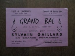 LANDRECIES 11 JANVIER 1964 DES A.C.P.G. 1939-45 ANIME PAR SYLVAIN GAILLARD EN GRANDE FORMATION - Programmes