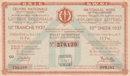 Loterij Koloniale - Biglietti Della Lotteria