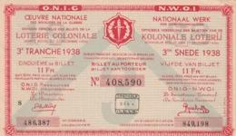 Loterij Koloniale - Billets De Loterie