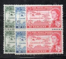 451 - ST. VINCENT , 1958 : The West Indies Federation  ***   MNH (2380A) COPPIA - St.Vincent (...-1979)